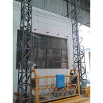 10m aangedrewe aluminium tou opgeskort platform zlp1000 enkel fase 2 * 2.2kw