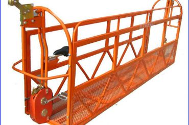 6m 1.5kw 630kg geverfde steierwerkplatforms aluminium met staaldraad 8.3mm