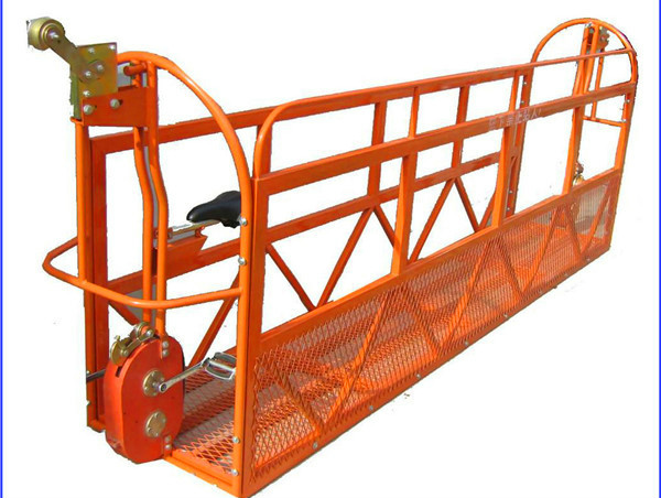 1000 kg 7,5 mx 3 afdelings Aluminium Alloy Suspended Werkplatform ZLP1000