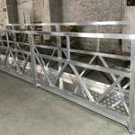 zlp800 staal opgeskorte werkplatform 380v 3 fases vir die buitemuurse skoonmaak