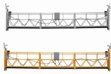 warm verkope alumimum legering opgeskort platform / opgeskort gondel / opgeskort wieg / opgeskort swing stadium met vorm e