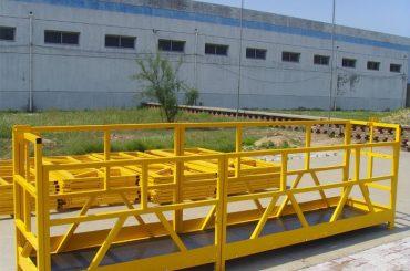 zlp 800 hoë opkoms gebou venster skoonmaak platform 300m 2.5m * 3 1.8kw 800kg