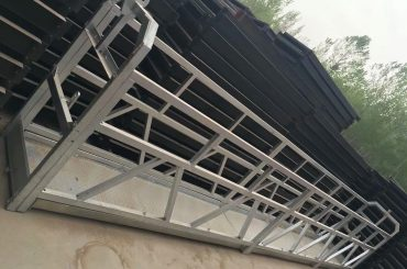 Zlp630 / 800 ll vorm aluminiumlegering, staal konstruksie opgeskort werkplatform lig op gebou vensters
