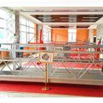 zlp630 aluminium ophang platform (ce iso gost) / hoë styging venster skoonmaak toerusting / tydelike gondel / wieg / swaai stadium warm