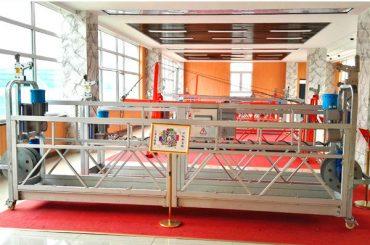 ZLP630 aluminium hangwerk platform (CE ISO GOST) / hoë stygings skoonmaak toerusting / tydelike gondel / wieg / swaai stadium warm