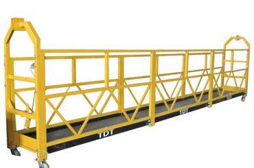 staal / warm gegalvaniseerde / aluminiumlegering tou opgeskort platform 1.5kw 380v 50hz