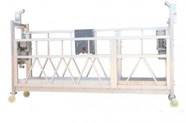 staalverf / warm gegalvaniseerde / aluminium zlp630 opgeskorte werkplatform vir die bou van fasadeverf