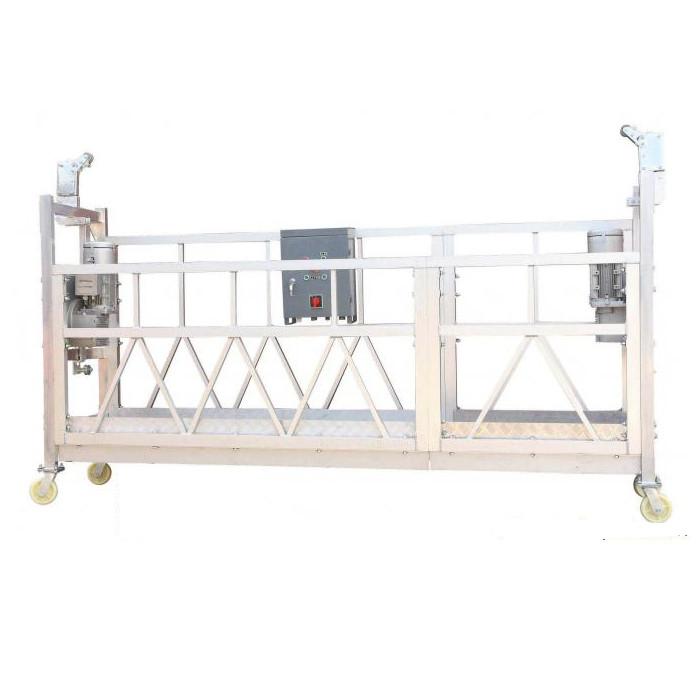 Staal Verf / Warm Gegalvaniseerde / Aluminium ZLP630 Opgeskorte Werkplatform Vir Gebou Gevelverf