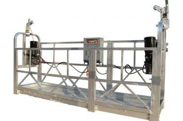 ce / iso-goedgekeurde zlp elektriese konstruksie / gebou / eksterne muur opgeskort platform / wieg / gondel / swaai stadium / lugklim