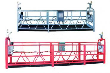 zlp 630 tou opgeskort platform lug werk swaai stadium steier met plastiek spuit geverf