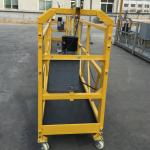 7.5m tydelik opgeskort draad tou platform vir konstruksie