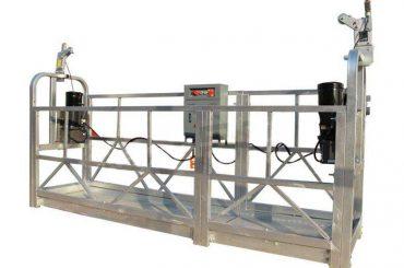 zlp reeks warm gegalvaniseerde / aluminium opgeskorte platform wieg vir hoë gebou muurskildery, glas skoonmaak