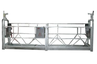 hoë opkoms aluminium allooi zlp800 opgeskort werk platform vir venster skoonmaak